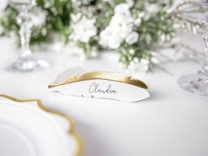 White & Gold, Placecards